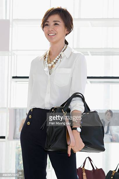 Japanese model Shiho Yano attends the photocall for BE_GE Launch Party on October 2 2015 in Seoul South Korea