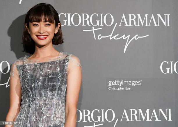 Japanese model Yu Yamada arrives at the Giorgio Armani 2020 Cruise Collection on May 24 2019 in Tokyo Japan
