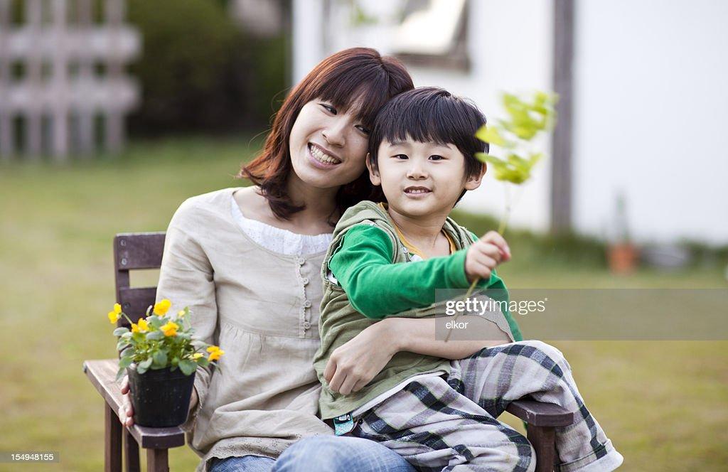 Japan mom boy