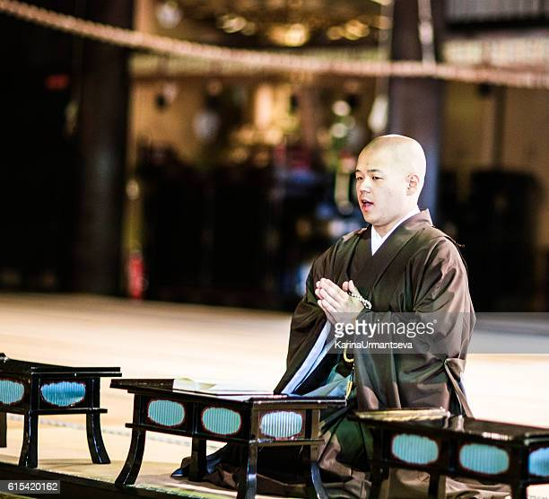 japanese monks - chanting stock pictures, royalty-free photos & images