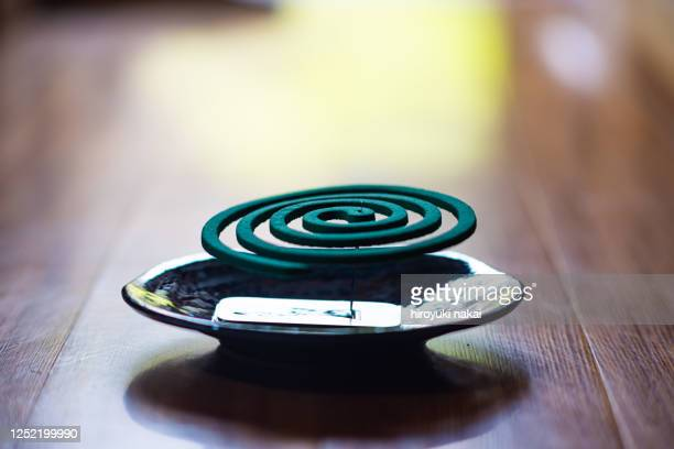 japanese mosquito repellent incense - incense coils stock pictures, royalty-free photos & images