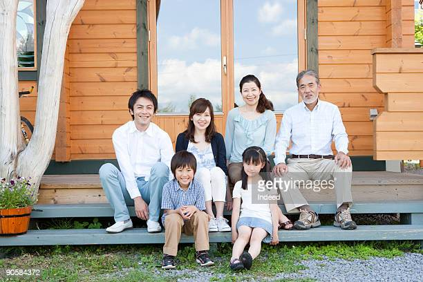 Japanese multi-generational family at Home