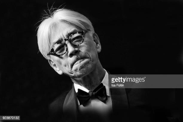 Japanese musician composer and member of the jury Ryuichi Sakamoto attends the closing ceremony during the 68th Berlinale International Film Festival...