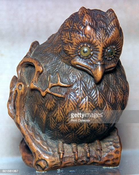 Japanese Netsuke of an owl used as a talisman against ingratitude
