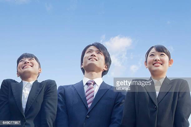 Japanese new member of society in the break