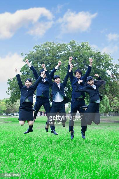 Japanese new member of society to jump in the park