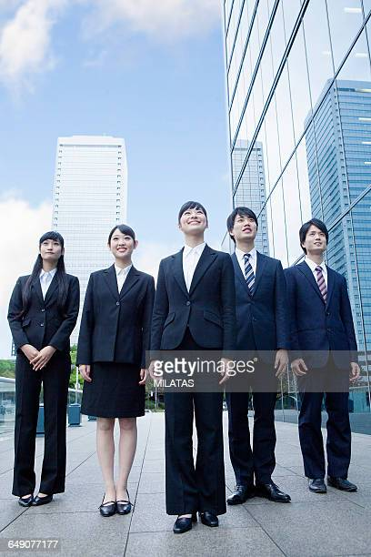 japanese new society who stand in the office - 職探し ストックフォトと画像