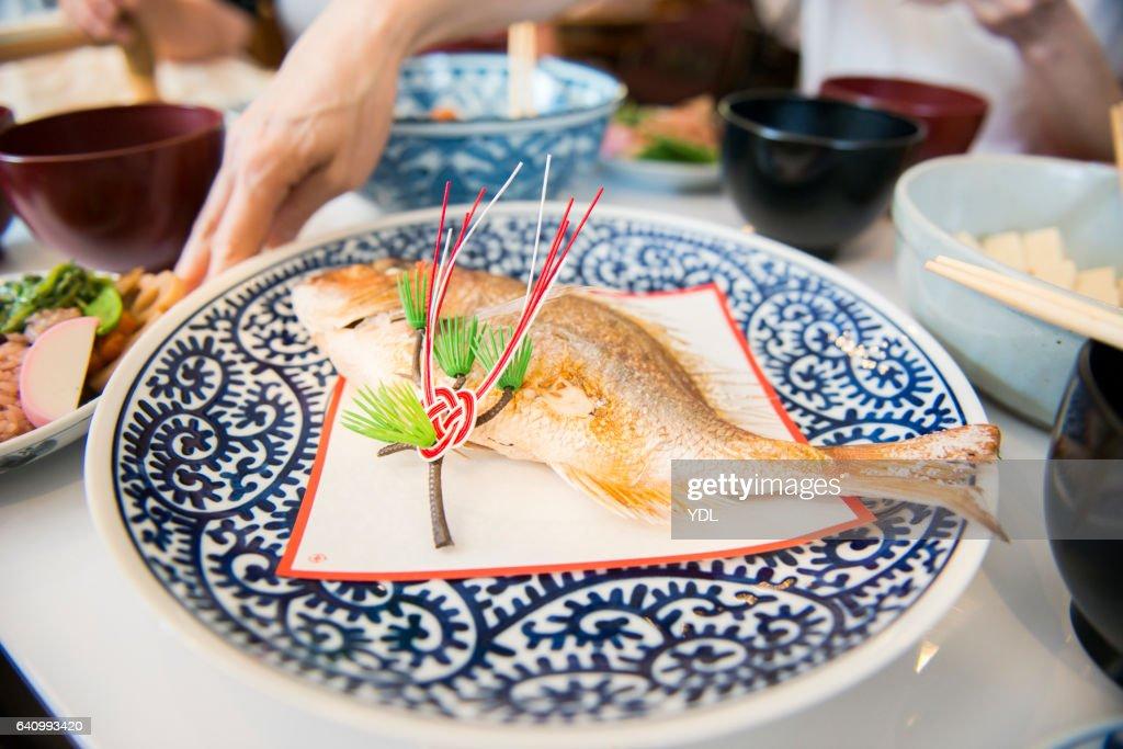 Japanese New year Cuisine. : ストックフォト