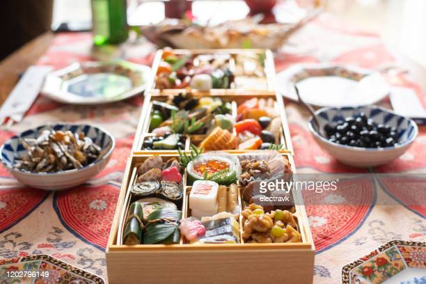 japanese new year's food - new year's day stock pictures, royalty-free photos & images