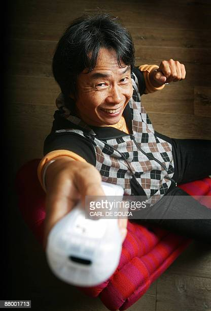 Japanese Ninento artist and game designer Shigeru Miyamoto is pictured in London on October 21 2008 Japan's Shigeru Miyamoto is the creator of Donkey...