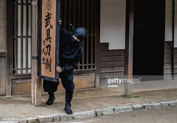 japanese ninja in kyoto - ninja fotografías e imágenes de stock