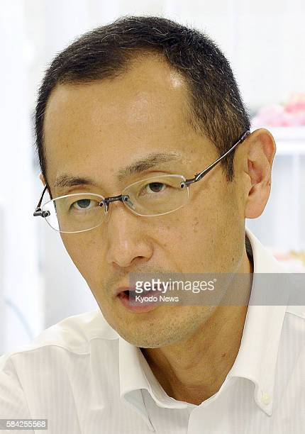 Japanese Nobel Prize winner Shinya Yamanaka speaks in an interview with Kyodo News in Kyoto western Japan on June 7 2016 Yamanaka a Kyoto University...