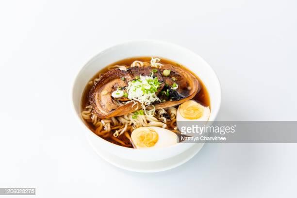 "japanese noodles ""shouyu ramen"" - stock photo - 醤油 ストックフォトと画像"