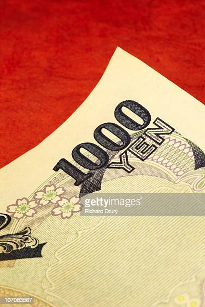 Japanese one thousand Yen note close-up