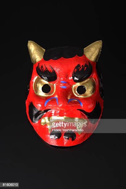 japanese 'oni' devil mask - devil costume imagens e fotografias de stock