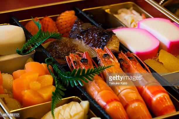 japanese osechi - osechi ryori stock pictures, royalty-free photos & images