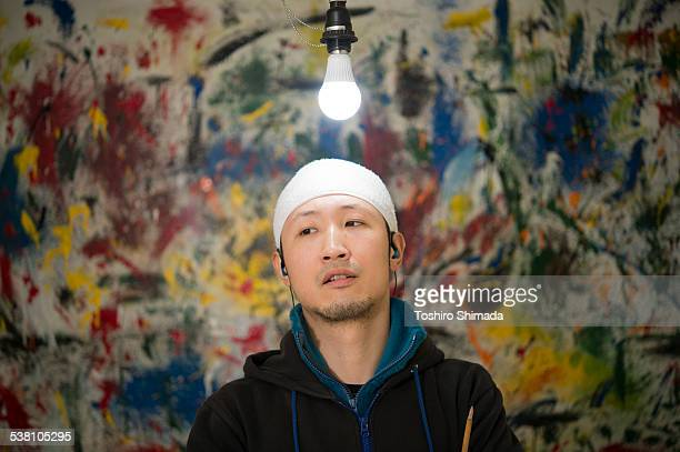 A Japanese painter in interview