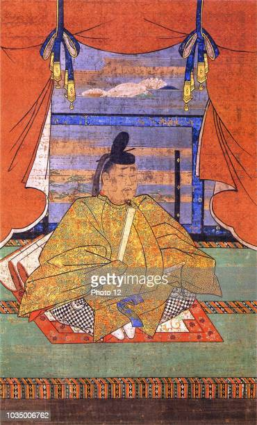 Japanese painting of Emperor Murakami emperor of Japan. Dated 10th Century.