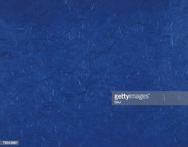 Japanese paper colored blue, close up