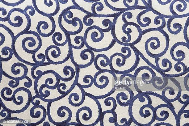 Japanese paper with arabesque pattern, close-up (full frame)