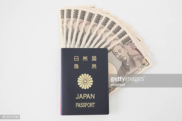 Japanese Passport and Money