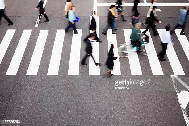 Japanische Fußgänger Tokyo Fußgängerübergang