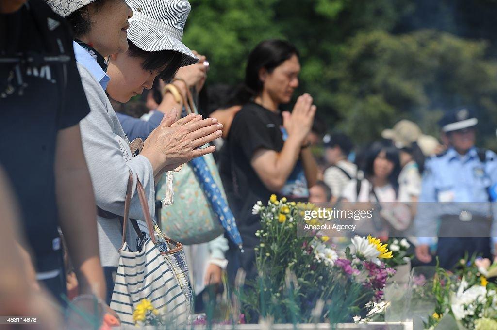 Hiroshima Marks the 70th Anniversary of Atomic Bomb : News Photo