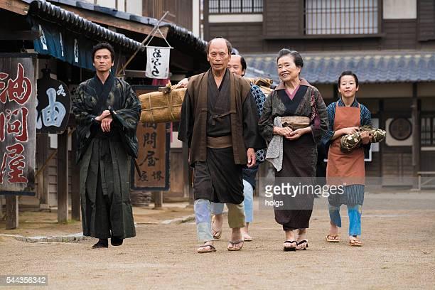 江戸時代の人々の服 - edo period ストックフォトと画像