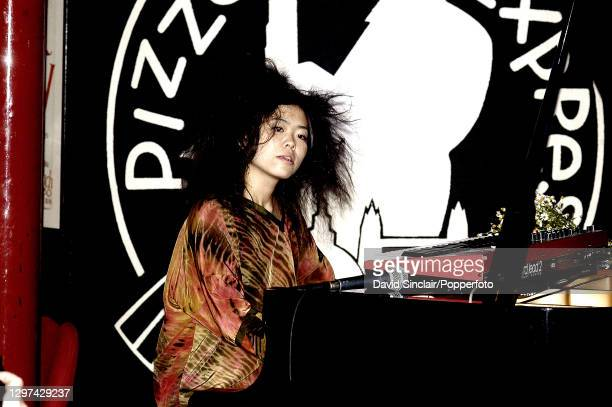 Japanese pianist Hiromi performs live on stage at PizzaExpress Jazz Club in Soho, London on 13th July 2004.