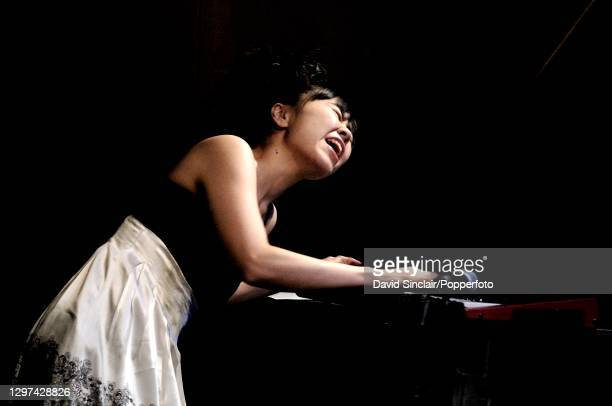 Japanese pianist Hiromi performs live on stage at Ronnie Scott's Jazz Club in Soho, London on 21st May 2007.