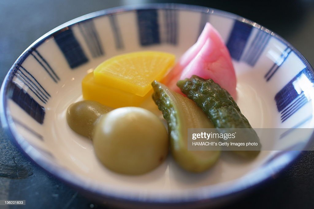 Japanese pickles : Stock Photo