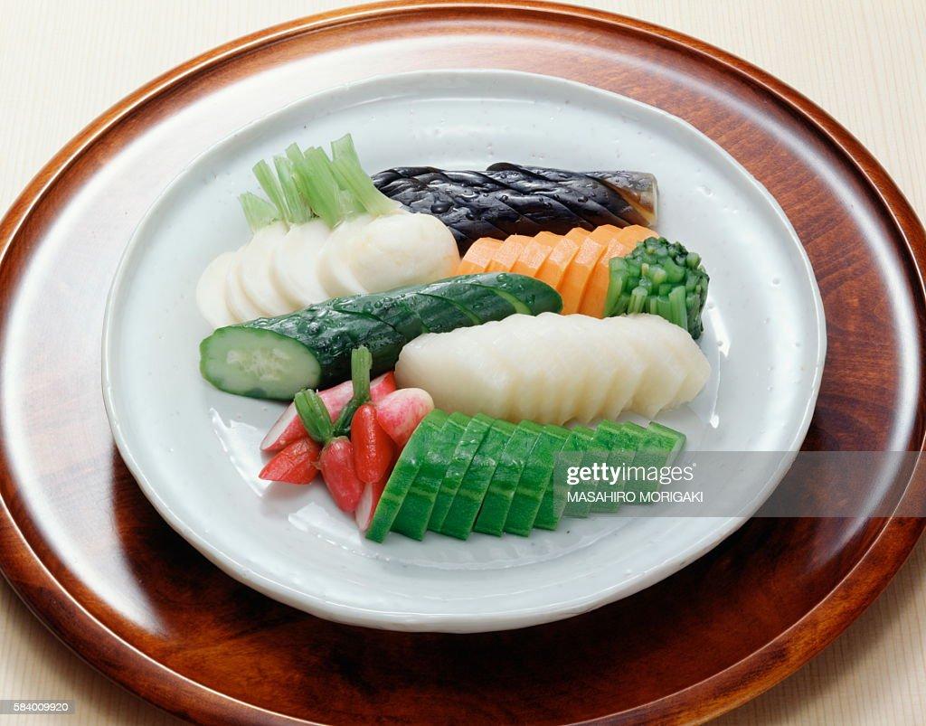 Japanese pickles : Stock Photo