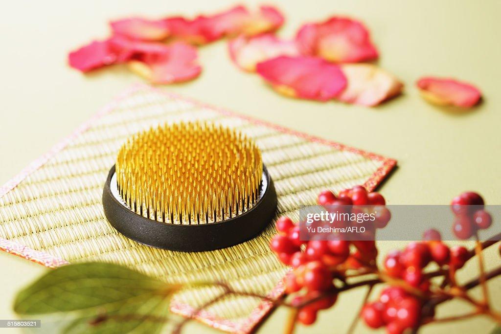Japanese pin holder : Stock Photo