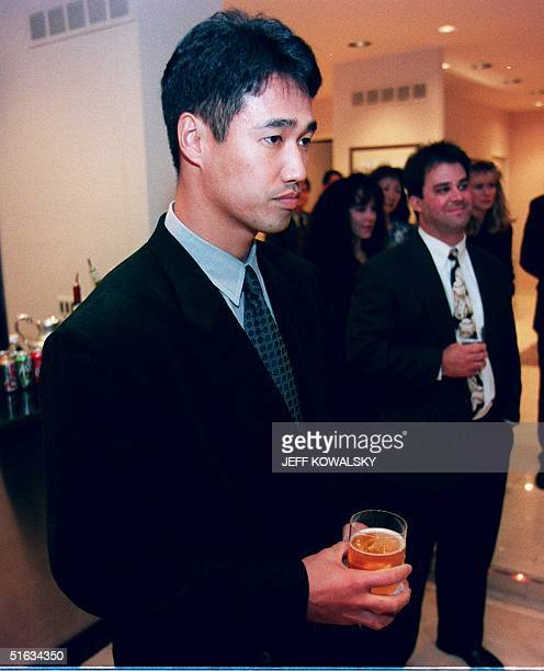 Japanese pitcher Masao Kida attends a dinner in his honor 08 December at the residence of the Japanese Consulate General in Bloomfield Hills Michigan...