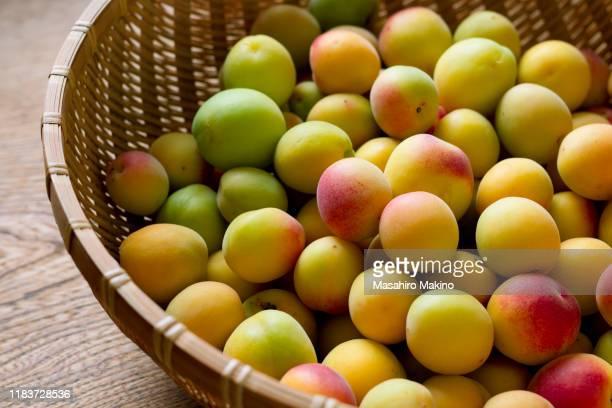 japanese plums - 熟した ストックフォトと画像