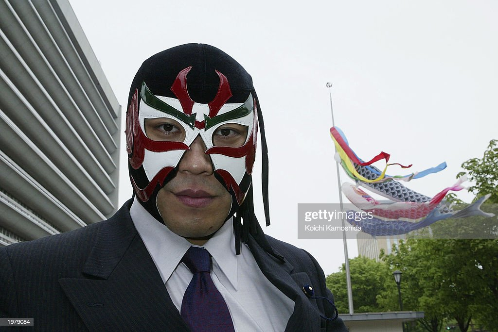 The Great Sasuke Attends Prefectural Assembly  : News Photo