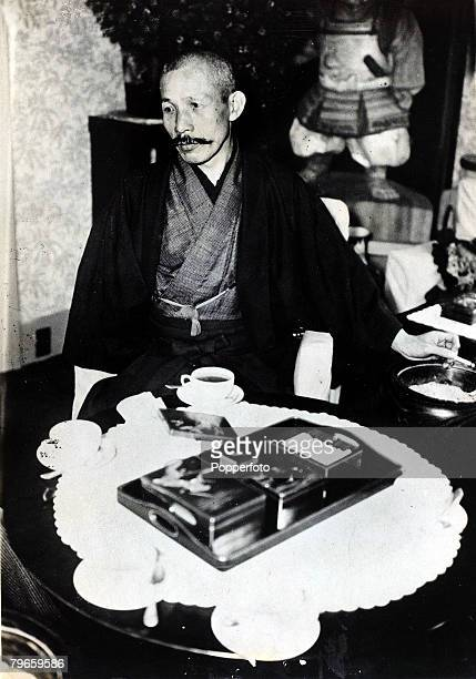 Japanese Politics,Military, pic: circa 1940, General Baron Sadao Araki, who was War Minister in Japan in the 1930's and Minister of Education...