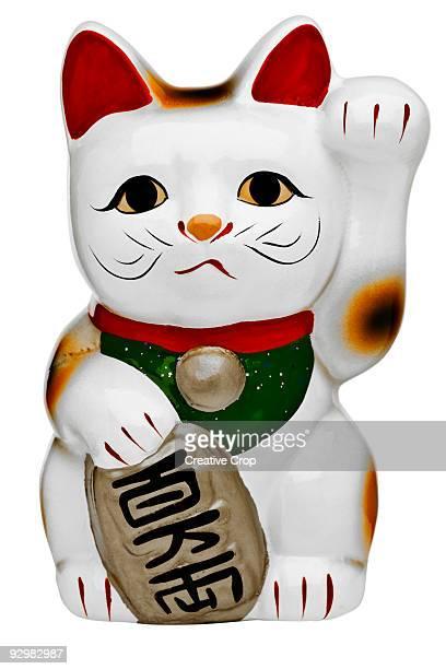 Japanese porcelain lucky cat (Maneki Neko)