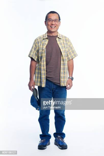 japanese portrait - plaid shirt stock pictures, royalty-free photos & images