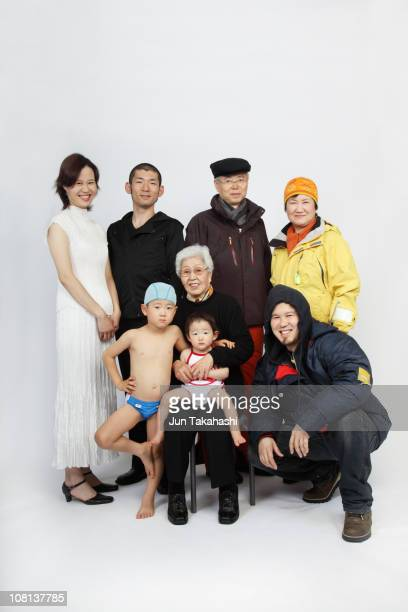 japanese portraits - old man in speedo stock photos and pictures