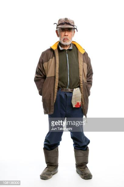 japanese portraits - grumpy old man stock pictures, royalty-free photos & images