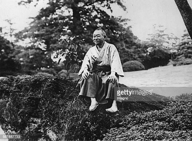 Japanese Prime Minister Admiral Keisuke Okada in his private garden in Tokyo 6th August 1935 Photograph