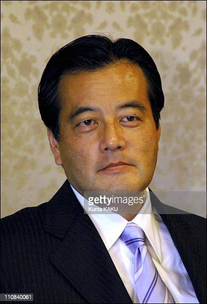 Japanese Prime Minister Junichiro Koizumi At Japan National Press Club In Tokyo For Political Debate With Other Party Leaders In Tokyo Japan On...