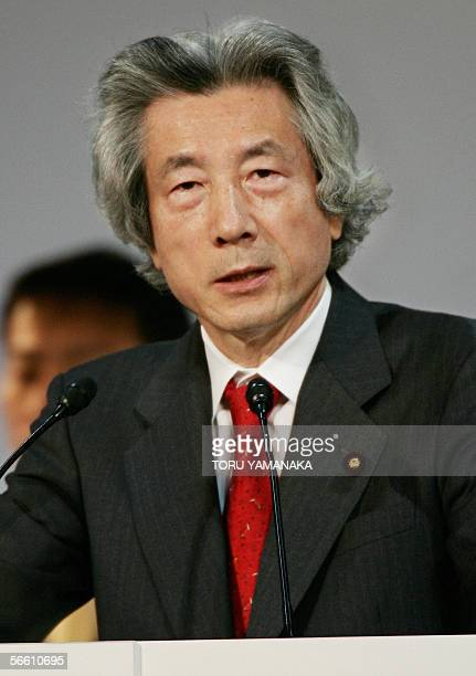 Japanese Prime Minister Junichiro Koizumi delivers a speech during the annual convention of the ruling Liberal Democratic Party at a hotel in Tokyo...