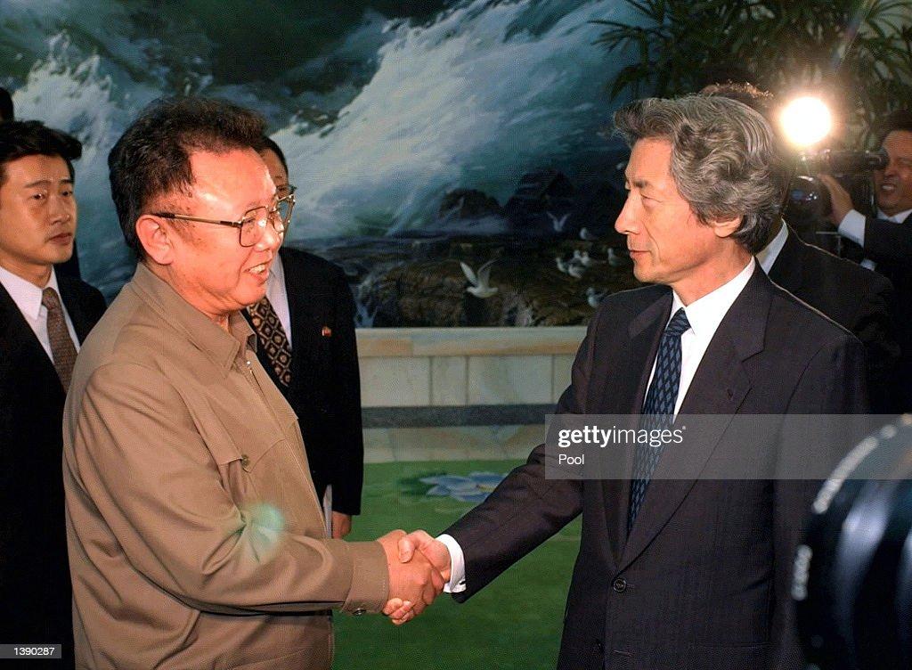 Japanese Prime Minister Makes Historic Visit To North Korea : ニュース写真