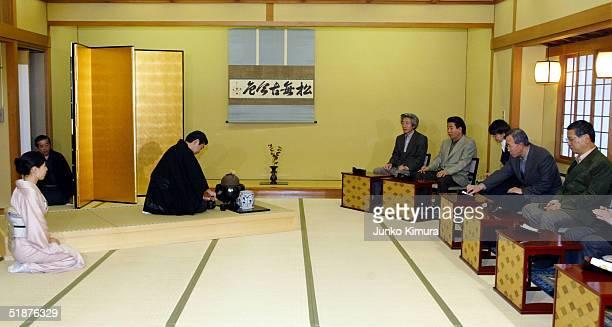 Japanese Prime Minister Junichiro Koizumi, South Korean President Roh Moo-Hyun, South Korean Foreign Minister Ban Ki-Moon and Japanese Foreign...