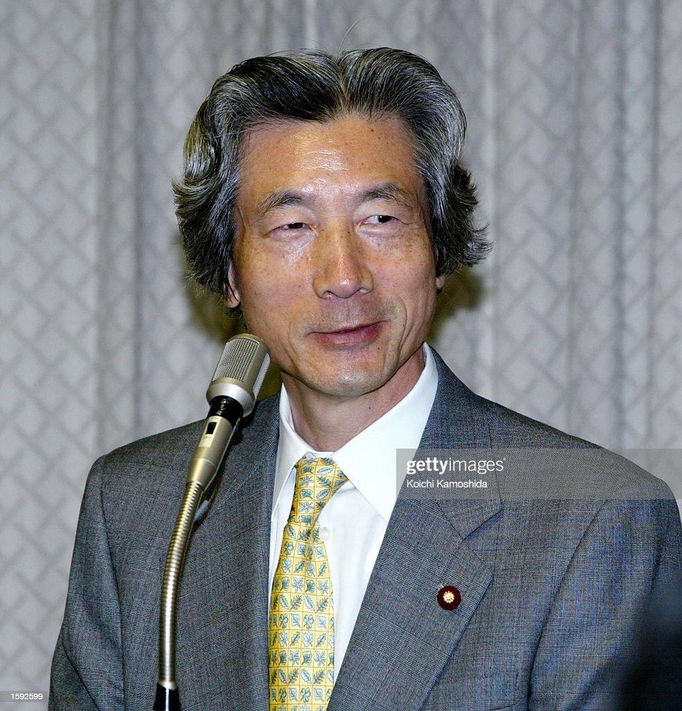 Junichiro Koizumi Speaks About North Korea : News Photo