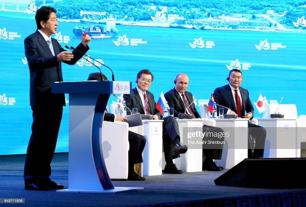 PM Abe Visits Vladivostok For Eastern Economic Forum - Day 2