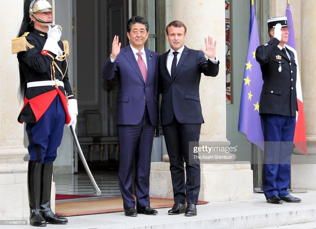 FRA: Japanese PM Abe Visits Europe And North America - Day 2