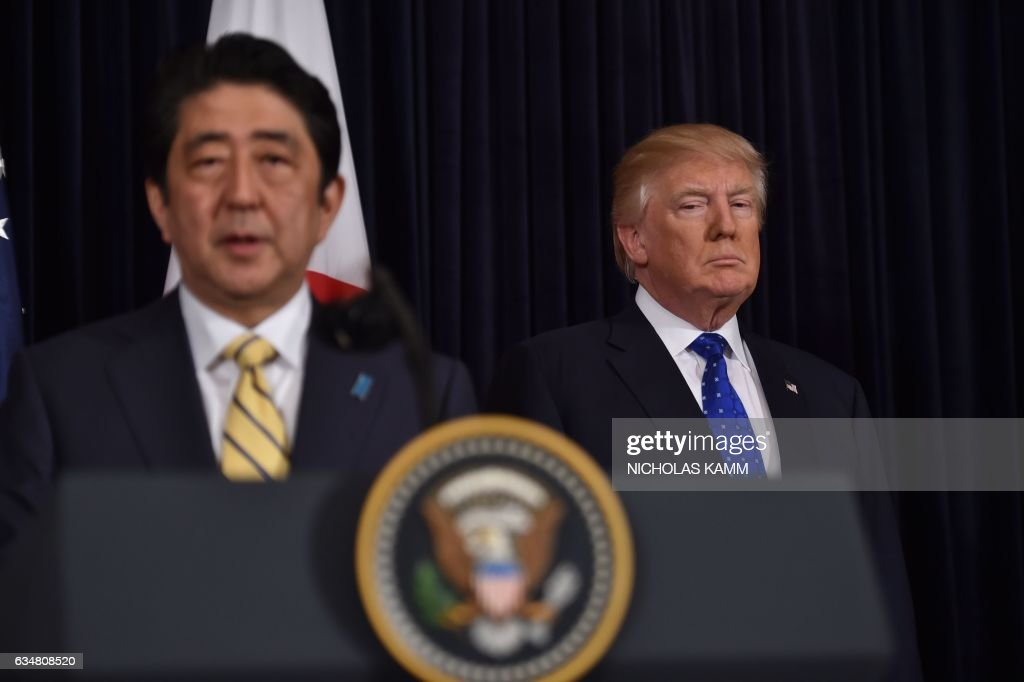 US-JAPAN-DIPLOMACY-TRUMP-ABE : News Photo